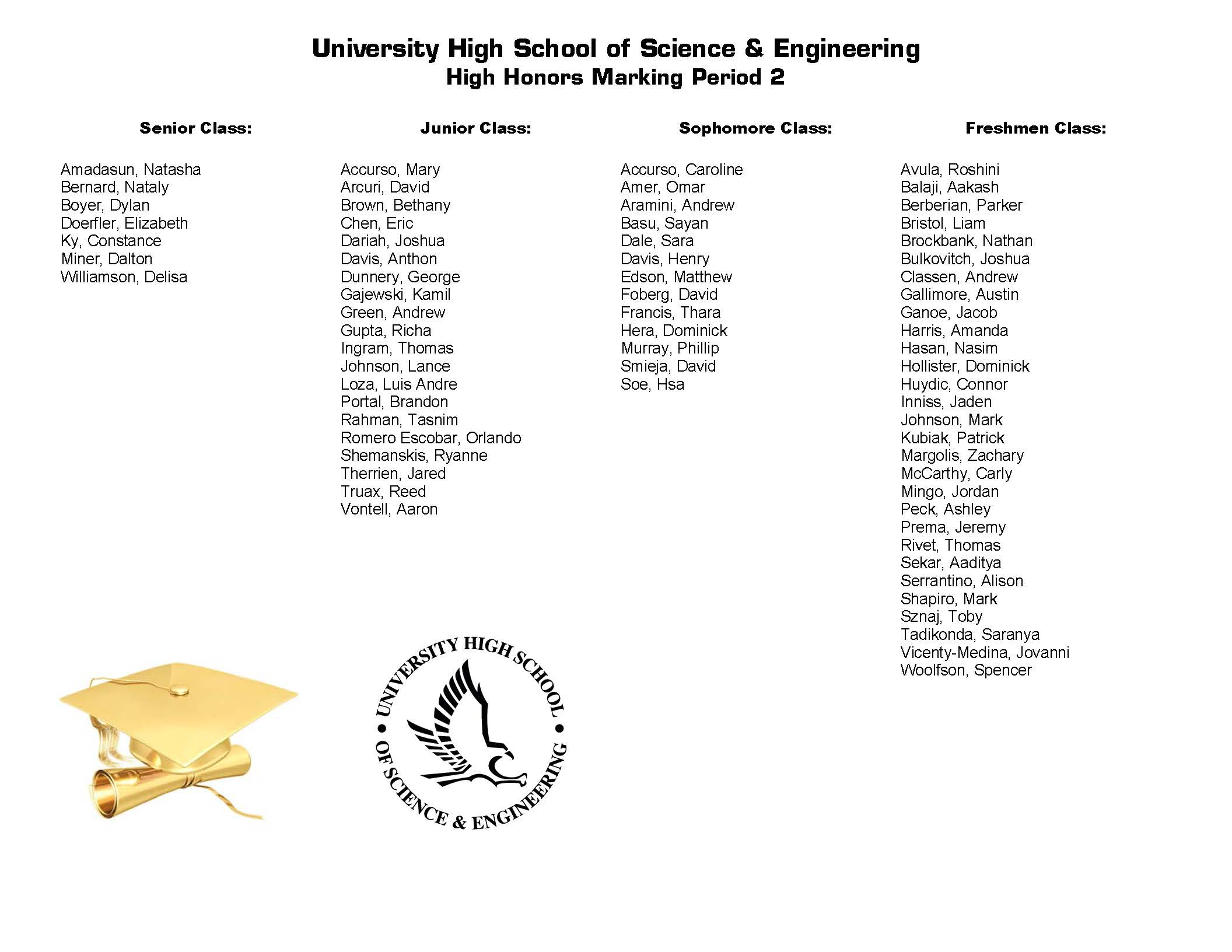 University High School of Science & Engineering (UHSSE) Marking ...