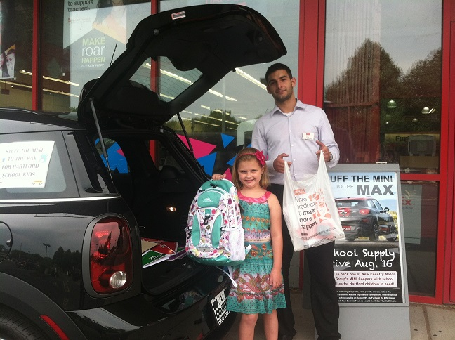 New Country Mini >> Hartford Students Receive Supplies From New Country Mini Cooper