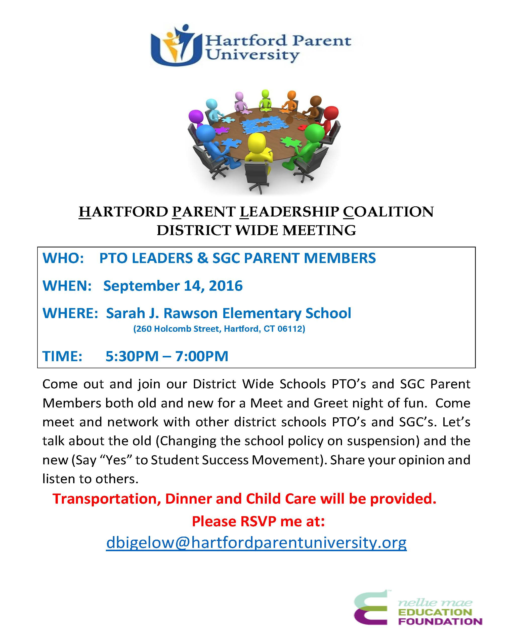 join the hartford parent leadership coalition district