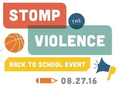 "Join the ""Stomp the Violence""  Back to School Event"