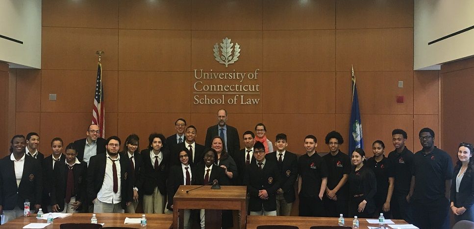 Bulkeley High School Travel to University of Connecticut School of Law to Compete against Hartford Public High School's Law and Government Academy in Intradistrict Moot Court Competition
