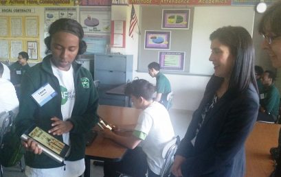 Lenovo's Karen Ondrick Visits students at Academy of Engineering and Green Technology; Check out our Scholars in Action!