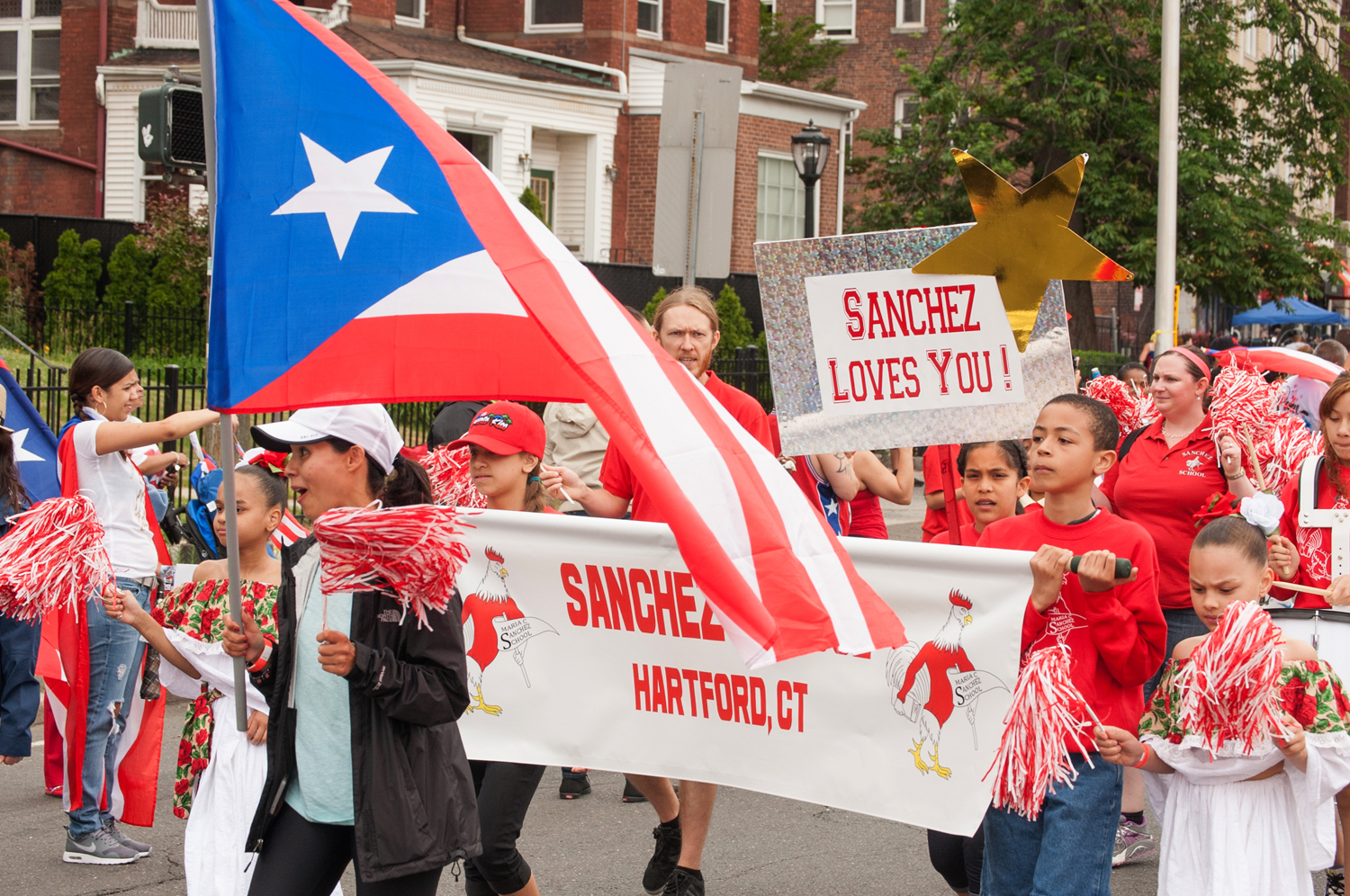 Sanchez School Proudly Marches at Puerto Rican Day Parade