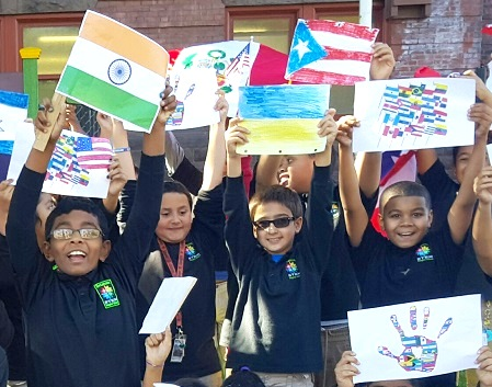 The Significance of Hispanic Heritage Month Highlighted at Betances STEM by Students' Parade of Flags