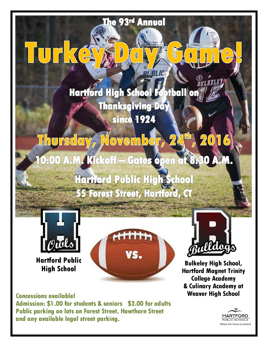 The 93rd Annual Turkey Day Game At Hartford Public High