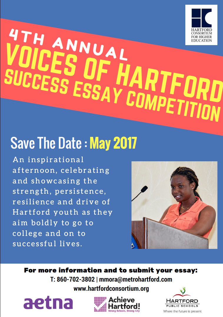 High School Seniors: 4th Annual Voices of Hartford Success Essay Competition Open for Submissions
