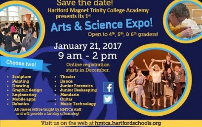 Hartford Magnet Trinity College Academy to Host FREE Arts & Science Expo for 4th, 5th and 6th Grade Students