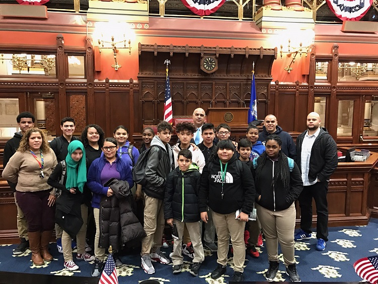 Burr School Student Leaders Visit the State Capitol
