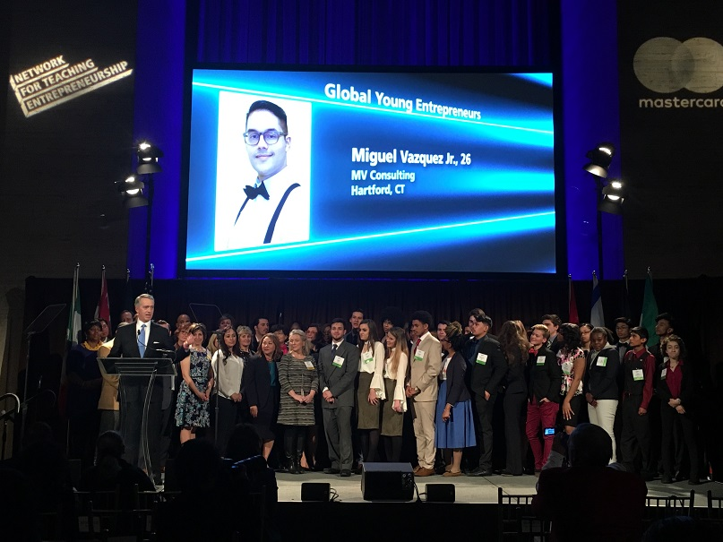 Pathways Academy of Technology and Design Alum Wins Global Young Entrepreneur of the Year at Network for Teaching Entrepreneurship (NFTE) Global Showcase in New York City