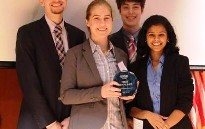 University High School of Science and Engineering Team Earns First Runner Up at University of Connecticut's Globalization Conference