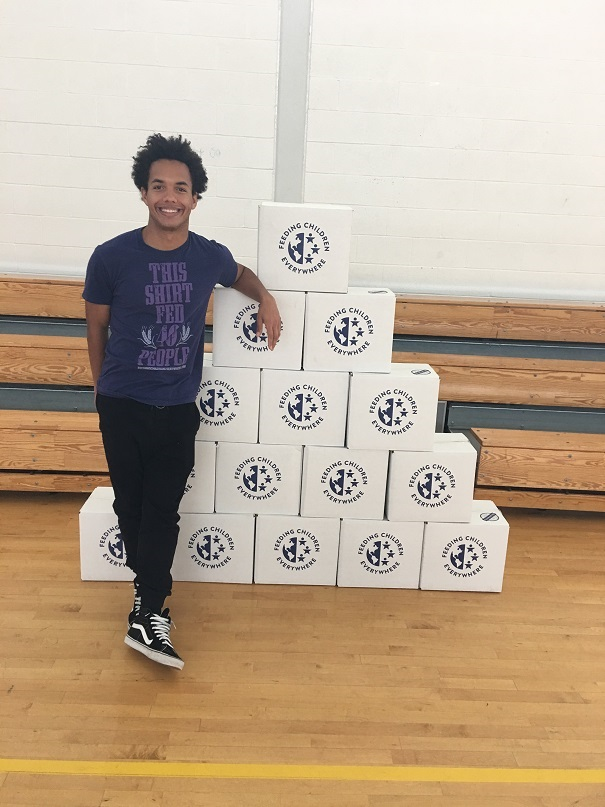Great Path Academy Student Hosts 'Feeding Children Everywhere' Food Drive