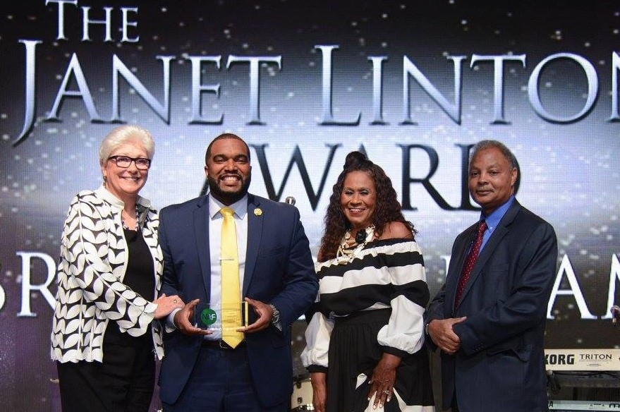 Brandon Frame Receives Janet Linton Leadership Award