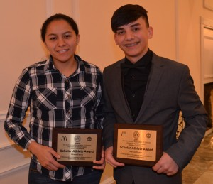 Liliana Garcia and Michael Ocasio, Bulkeley High School's CIAC Scholar Athletes. Photo courtesy of Diane Callis.