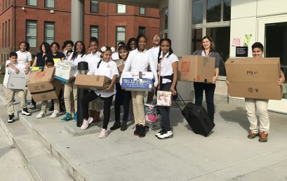 West Middle Community School 6th Grade Students Assist with Hurricane Relief
