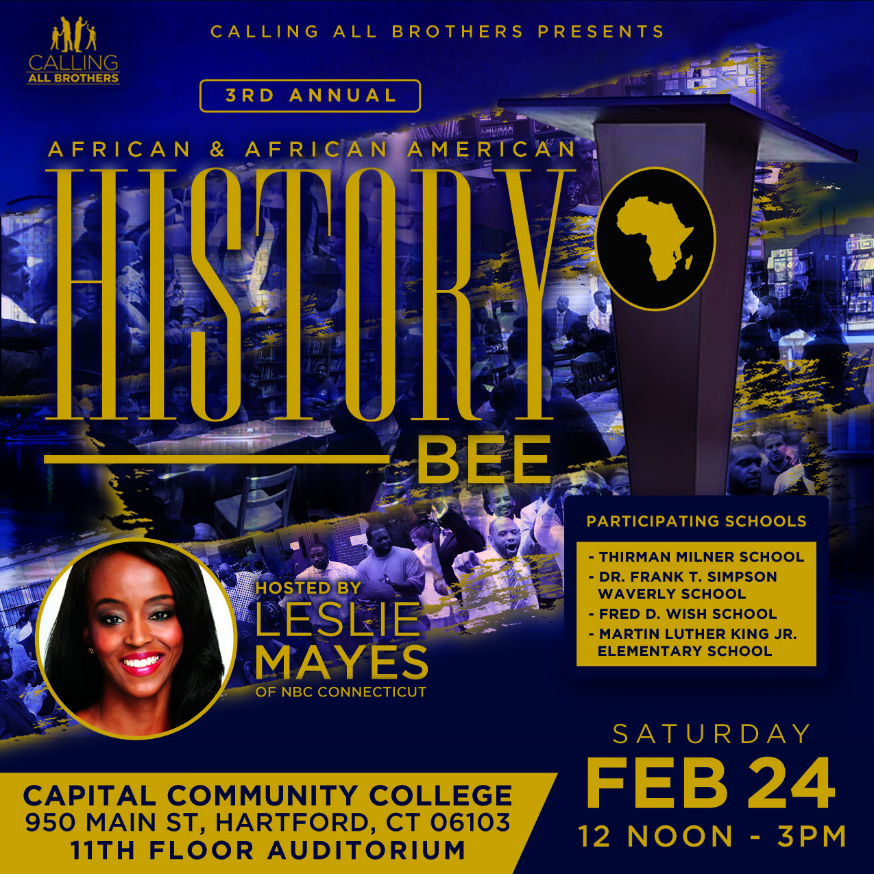 Cheer on our Students at the 3rd Annual African and African American History Bee