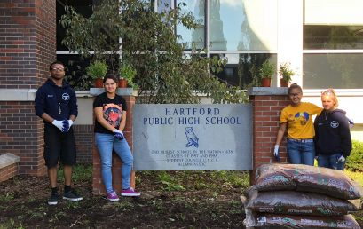 8th Annual Green Apple Day of Service at Hartford Public High School