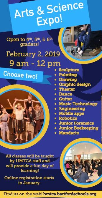 Hartford Magnet Trinity College Academy's 3rd Arts & Science Expo!