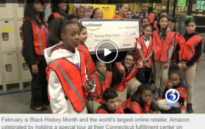 Milner School Students Explore STEM Careers at Amazon – and Get a Big Surprise