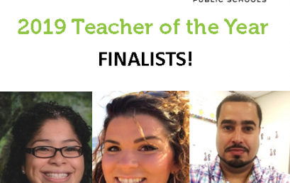 HPS Selects 3 Finalists for the 2019 Teacher of the Year Title