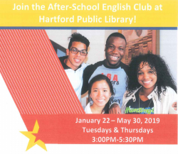 Join the After-school Club at Hartford Public Library!