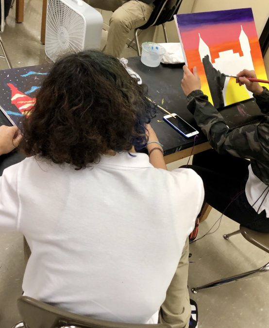 Bulkeley High School Students Create Paintings for Hartford Marathon Foundation