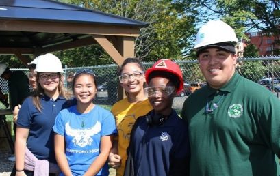 Hartford Public High School Students Assist Knox/UTC/Engineers Without Borders in Construction