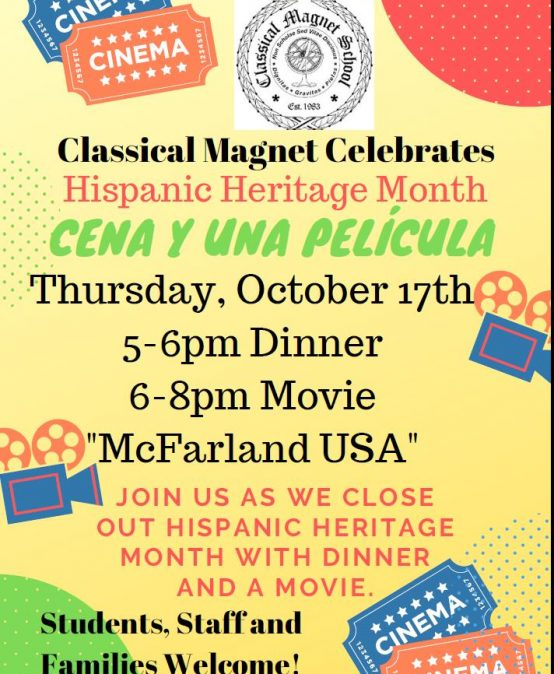 Classical Magnet Celebrates Hispanic Heritage Month!