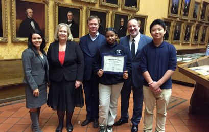 Renzulli Students Recognized with Governor's Reading Challenge Award