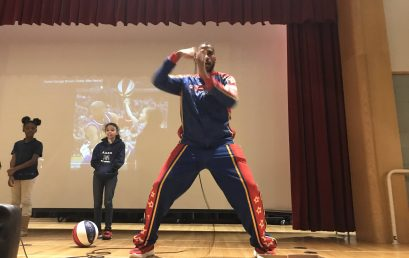 Harlem Globetrotters and XL Center Bring T.E.A.M. Program to SAND School