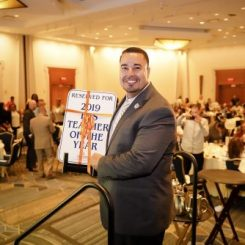 Last Year's Teacher of the Year 2019, Narciso Moquete, a 4th grade teacher at SAND School