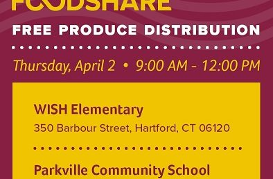 FREE Produce Distribution Thursday, April 2