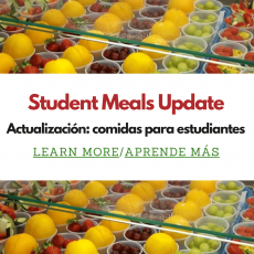 New Student Meals Pickup Location: MD Fox School