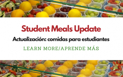 Student Meals Holiday Schedule — Memorial Day Weekend