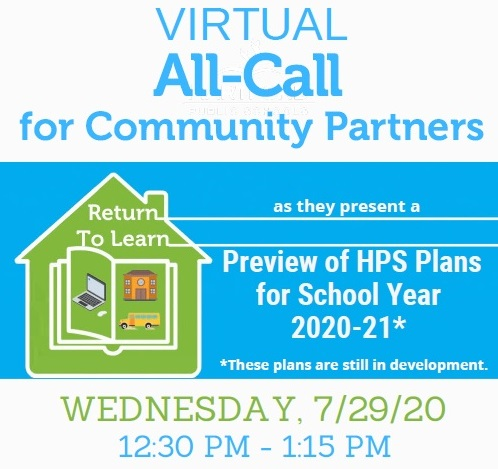 ICYMI: An Update about School Year 2020-21 for our HPS Community Partners