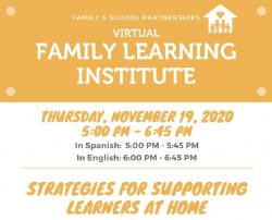 Join Us for a Family Information Session about Supporting Learners at Home