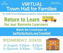 ICYMI: Town Hall about Return of Remote Learners to In-Person Learning