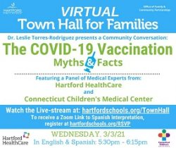 Join Us for a Town Hall about the COVID-19 Vaccination: Myths and Facts