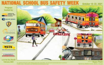 October 18-22 Is National School Bus Safety Week 2021!
