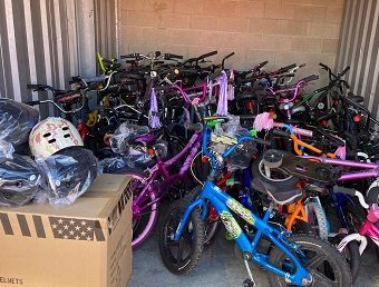 Community Members Provide 150 Bicycles for HPS Student Attendance/PBIS Prizes